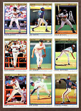 1991 O-Pee-Chee (OPC) Premier Uncut Proof Nine-Panel, Ripken, Justice, Carter