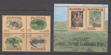 Philippine Stamps 1995 Endemic Mammals Series II Complete set MNH