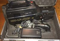 Sharp VL-L270 VHS Camcorder With Electronic View Finder VF-04U READ!!!