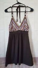 Bra Tops By Victoria Secret Womens Halter Dress XS Brown Pink Sequin V-Neck