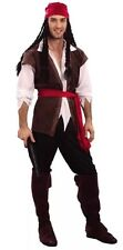 Da Uomo Caraibi Capitan Jack Sparrow Pirata Costume Addio al celibato Party UK SLR