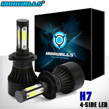 IRONWALLS 4-Sides H7 CREE LED Headlight Kit Bulbs High Beam 1900W 6000K 285000LM