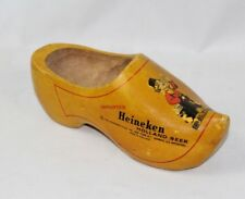 Vintage Imported Heineken Holland Beer Dutch Wooden Shoe - Unique Advertising
