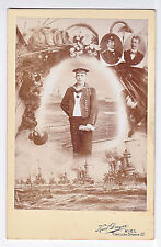 Kabinettfoto Kreuzer SMS Prinz Adalbert, Kaiserlichen Marine Matrose, Admiral