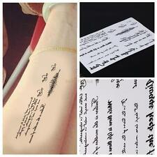 2PCS Temporary Tattoos Lovely Words Body Art for Women Men Fake Tattoo Sticker