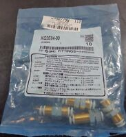SMC Plastic Push To Connect Tube Fittings Bulkhead Qty 4 KQ2E04-00