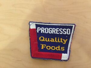 progresso quality foods VINTAGE  patch,, new old stock ,1960's