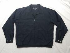 NIKE GOLF Mens Black Zippered Long Sleeve Athletic Golf Jacket Coat Size Large