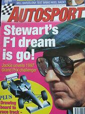 AUTOSPORT MAGAZINE DEC 1996 STEWART'S F1 DREAM STEWART GP SPOTLIGHT MANSELL TEAS