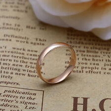 promise love smooth ring size 6 Fashion jewelry Womens Mens Rose gold filled