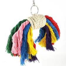New listing Climb The Bird Parrot Cotton Rope Chew Toys Bite Bird Toys Random Color