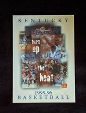 1995-96 Kentucky Wildcats Basketball Schedule - Tony Delk