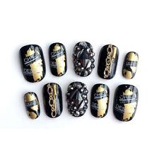 24pcs Fashion 3D Glitter Crystal False Nails Faux Ongles Full Nail Tips Acrtific