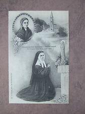 Vintage Catholic St. Bernadette Soubirous picture large holy card postcard B/W