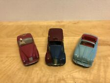 DINKY Toys 3 Car Lot - Sunbeam Alpine, Austin Atlantic, Austin Taxi