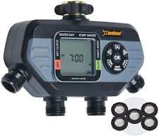Melnor hydrologic Digital Water Tap Hose Sprinkler Timer 1/2/4 outlet options