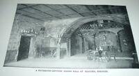 1903 Antique Print 15TH CENTURY DINING HALL KLAUSEN BRENNER Lake Garda Italy