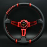 350mm PVC Deep Dish Drifting Steering Wheel Fit for MOMO Hub for OMP boss kit 4R