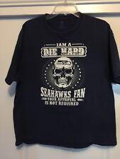 Die Hard SeaHawks fan T shirt Xl.