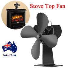 AU Heat Powered 4 Blade Stove Fan for Log Wood Burner Fireplace Eco Fuel Saving