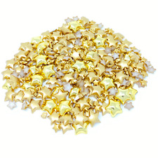 Gold Pink Mini Resin Star Half Pearls Cardmaking Embellishments 500 (Approx)