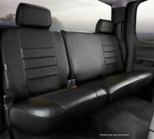 Solid Black Leatherette Fia SL62-71 BLK//BLK Custom Fit Rear Seat Cover Bench Seat