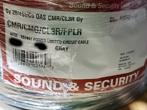 Southwire/Tappan R30042 20/4C Shielded Communication/Alarm Cable CMR Gray /100ft