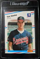 1988 FLEER #539 TOM GLAVINE ROOKIE CARD RC HOF ATLANTA BRAVES MINT