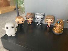 6 x Dr Who Funko Pop Figures. Tom Baker, Dalek, Cyberman, Sarah Jane, unboxed.