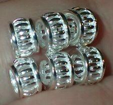 6 Beads 925 Silver ADD TO EUROPEAN STYLE & PANDORA BRACELETS, 3.85 Grams #S2367