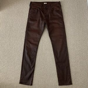 TRUE RELIGION Men's Tapered Dean Coated Stretch Coated Waxed Brown Jeans 30x31
