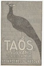 Pubblicità vintage TAOS LUCIDA SCARPE PADOVA reklame advert werbung publicitè