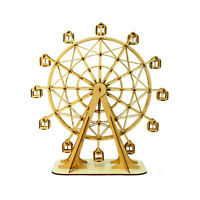 Ferris Wheel Japanese Wooden Puzzle Art 3D DIY Model Hobby Fun Build Gift Kit
