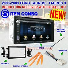 2008-2009 FORD TAURUS, TAURUS X DDIN STEREO KIT, USB TOUCHSCREEN BLUETOOTH DVD