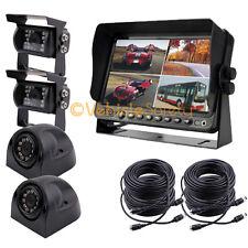 "7"" Monitor DVR Video Recorder 2 x Side Camera + 2 x Backup Camera Car Safety Kit"