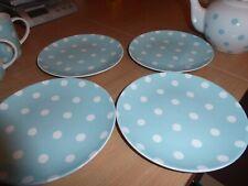 BNWT  Cath Kidston 4 blue and white spotty plates