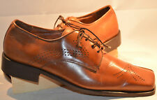 MEN'S SHOE, FRATELLI, OXFORD, BROWN, SQUARE TOE,  SIZE 12