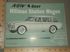 1958 Hillman Station Wagon Sales Folder Brochure US Import