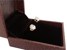 4.00 Ct Round Cut Solitaire Diamond Studs 18K Hallmarked Yellow Gold Earring