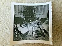 1950s Christmas Morning Presents Under Tree Vintage Photograph