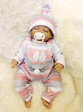 Reborn Preemie Girl Doll Handmade Silicone Vinyl Adorable Lifelike Baby 18'' P46