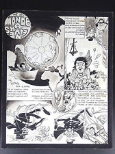Rare planche originale Guy Clair 1969 Adamo Tintin