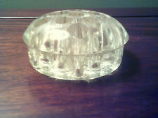 *Vintage Clear Glass Dome Top Flower Frog 11 Holes 3 1/4� Diameter