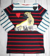 STELLA McCARTNEY KIDS🌷Striped Long Sleeve Polar Bear Dress🌷Girl Size 3 3T CUTE