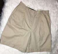 Brooks Brothers Advantage Chino Cotton Shorts Rolled Hem Women Size 10