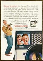 1961 PRINT AD Wollensak Electric Eye-Matic Power-Zoom Movie Camera