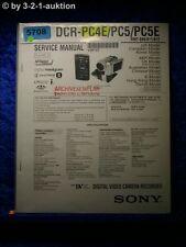 Sony Service Manual DCR PC4E /PC5 /PC5E Level 2 Digital Camera (#5708)