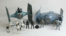 Star Wars TIE Fighter and TIE Advanced POTF2 Lot with Figures EU