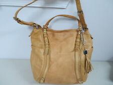 OLIVIA HARRIS Stone leather Tote Shoulder/messenger Bag Large Spacious