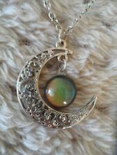 colour necklace Goth Emo Punk Claire's moon half moon silver